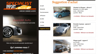 Specialist Import - des suggestions d'achat à votre disposition-specialist auto import auto
