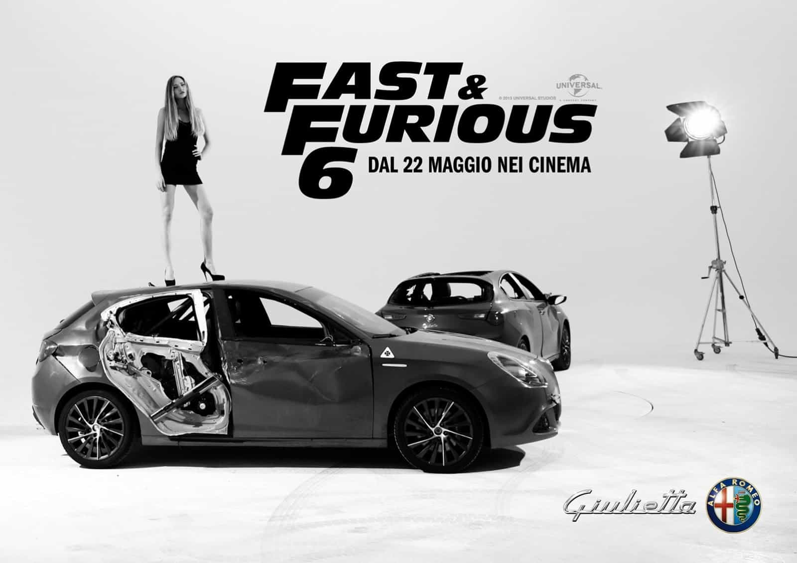 fast and furious 6 une promo pour l 39 alfa romeo giulietta au passage. Black Bedroom Furniture Sets. Home Design Ideas