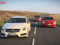 Comparatif : Mercedes A45 AMG vs BMW M135i vs Golf GTI