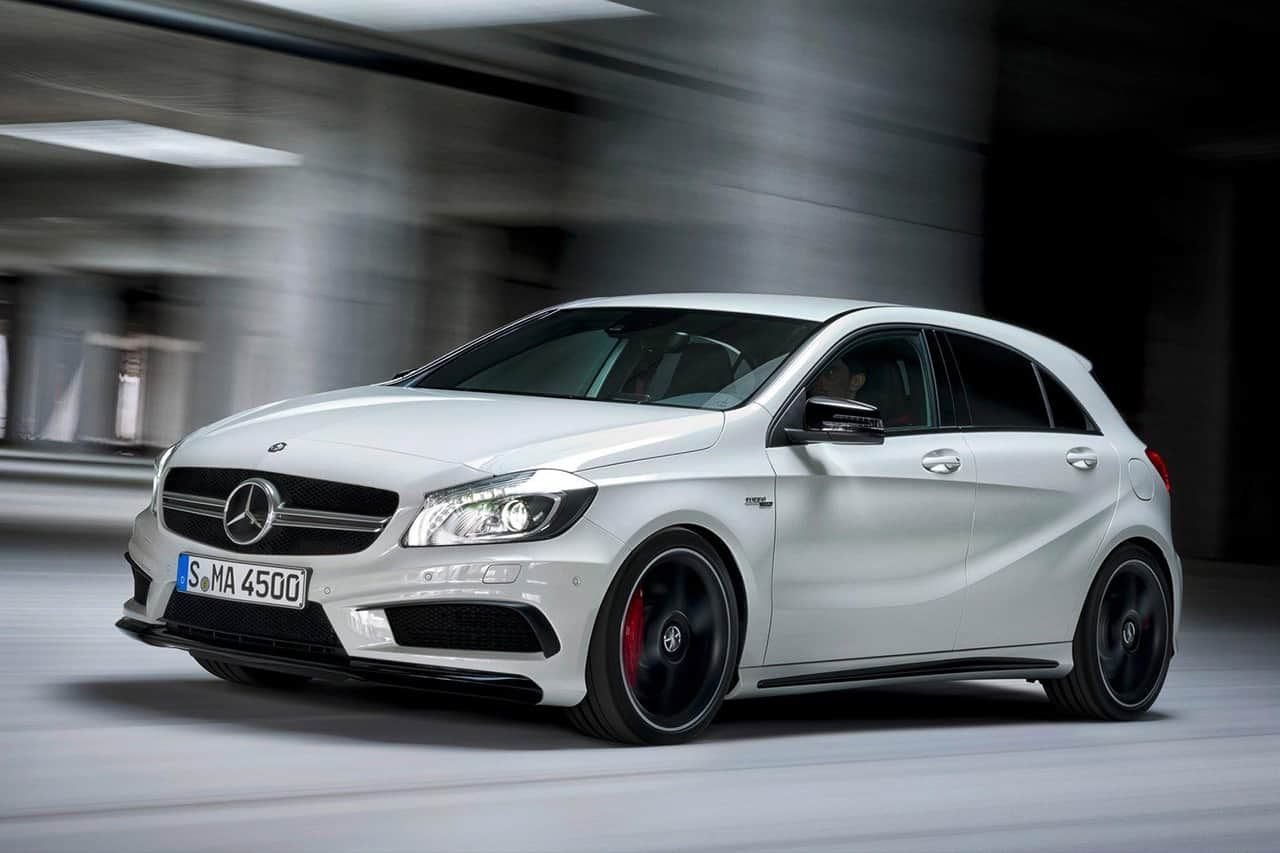 mercedes a45 amg elle arrive en ao t. Black Bedroom Furniture Sets. Home Design Ideas