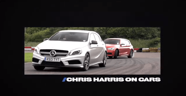 BMW M135i vs Mercedes A45 AMG : Chris Harris comme juge