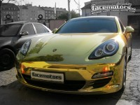 Porsche Panamera Or Chromée par Facemotors