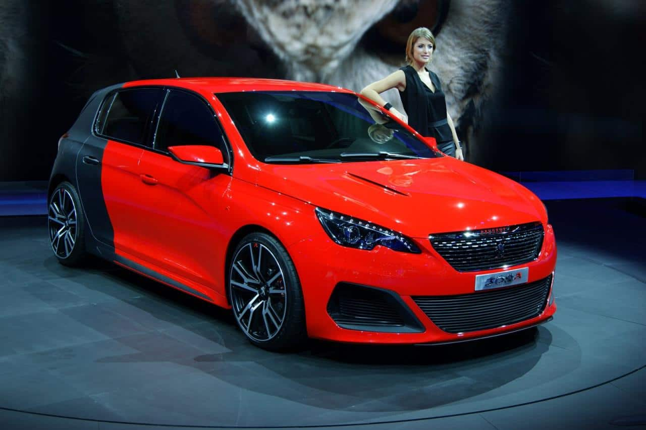 Peugeot 308 R : des photos en direct de Francfort