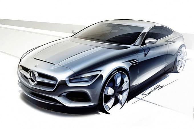 Esquisses : Mercedes Classe S Coupé