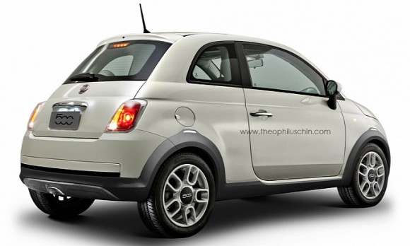 rendu fiat 500 crossover par theophilus chin. Black Bedroom Furniture Sets. Home Design Ideas