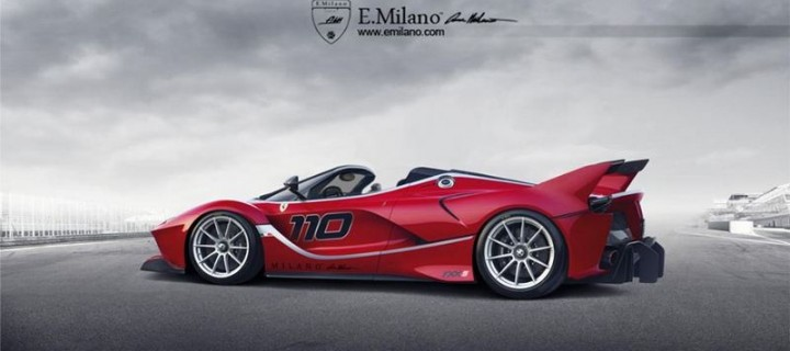 rendu la ferrari fxx k spider d evren milano. Black Bedroom Furniture Sets. Home Design Ideas