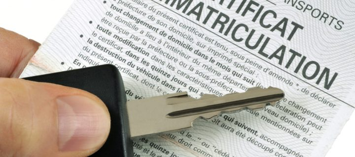 Obtention du certificat d'immatriculation